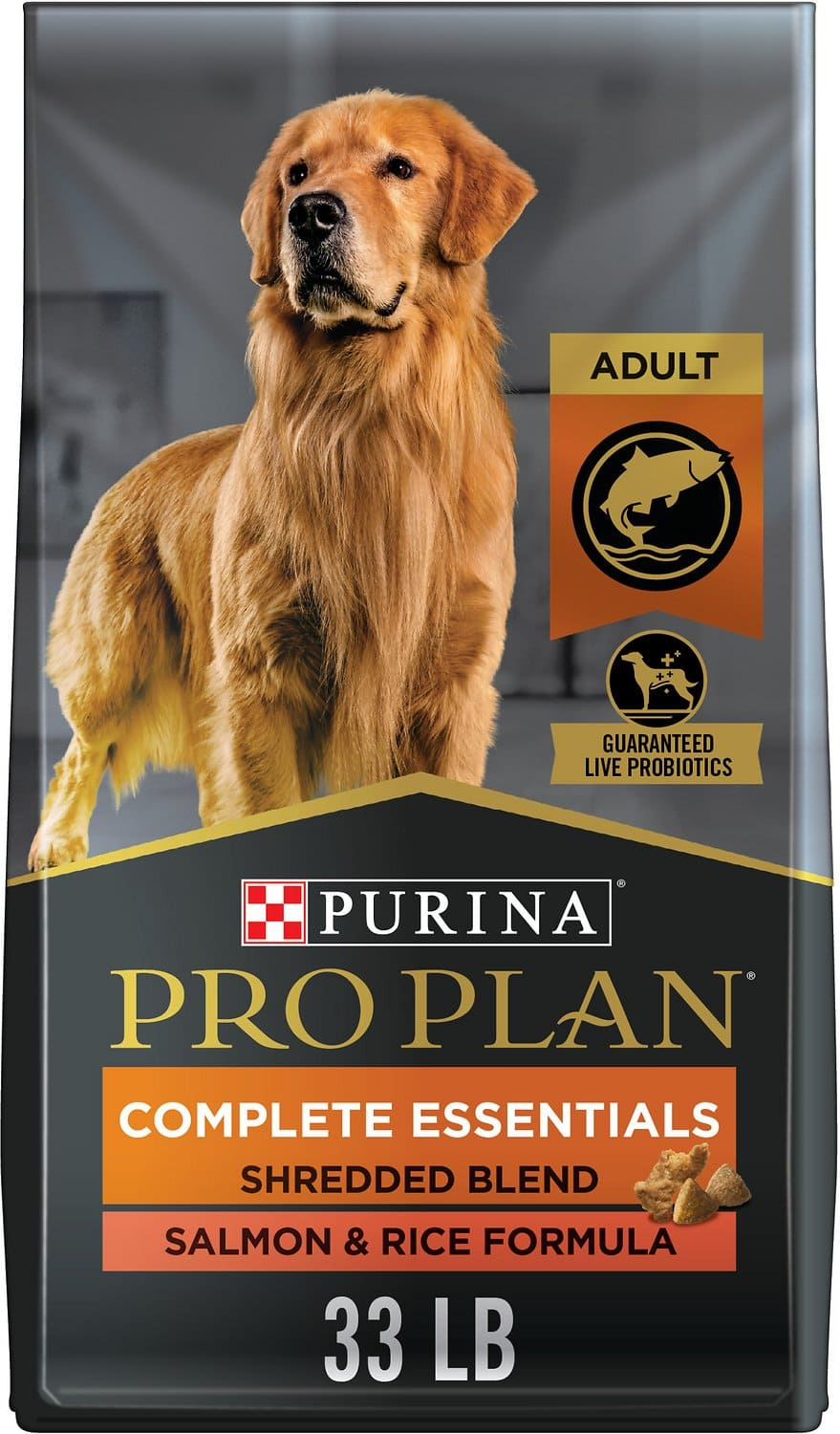 Purina Pro Plan Adult Complete Essentials Shredded Blend Formula for Dogs 33 lbs Salmon & Rice 1