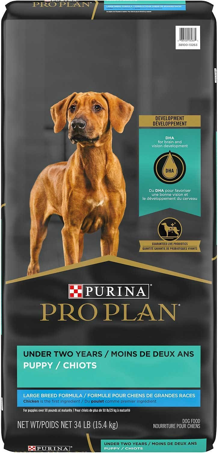 Purina Pro Plan Puppy Large Breed 34 lbs Chicken & Rice 1