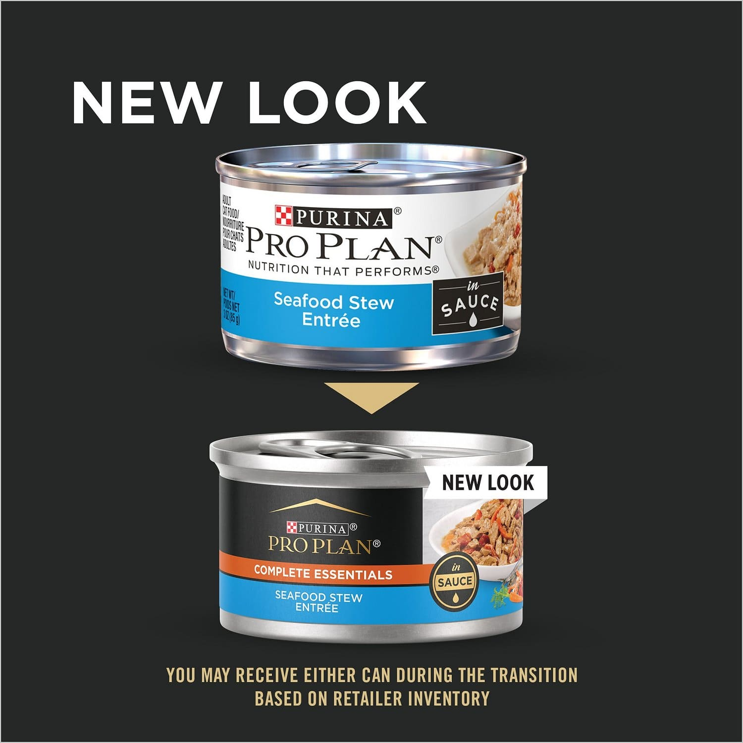 Purina Pro Plan Complete Essentials Entree in Sauce 24 x 3 oz can Seafood Stew 2