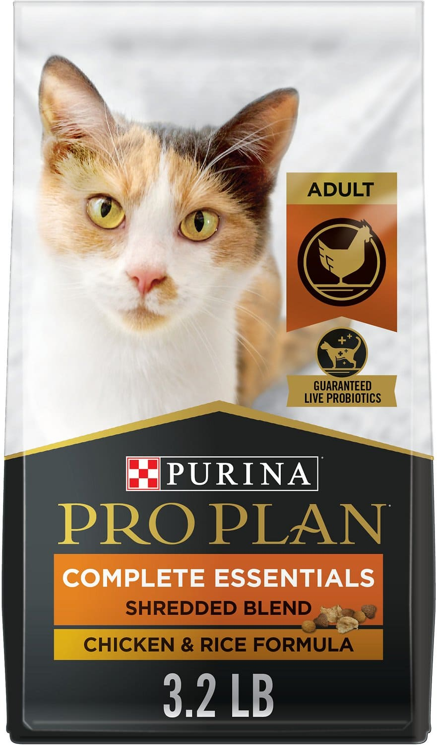 Purina Pro Plan Adult Complete Essentials Shredded Blend Formula for Cats 3.2 lbs Chicken & Rice 1