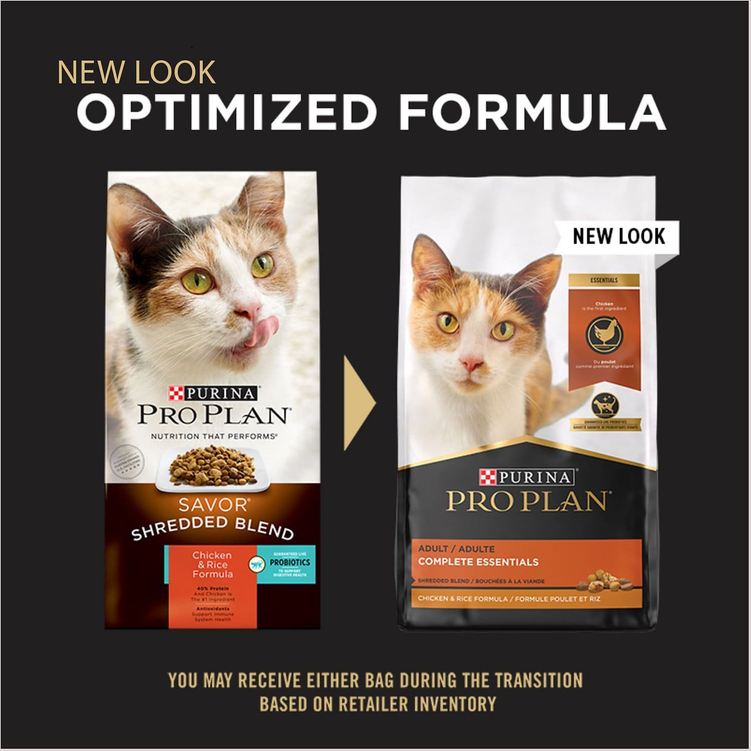 Purina Pro Plan Adult Complete Essentials Shredded Blend Formula for Cats 3.2 lbs Chicken & Rice 2