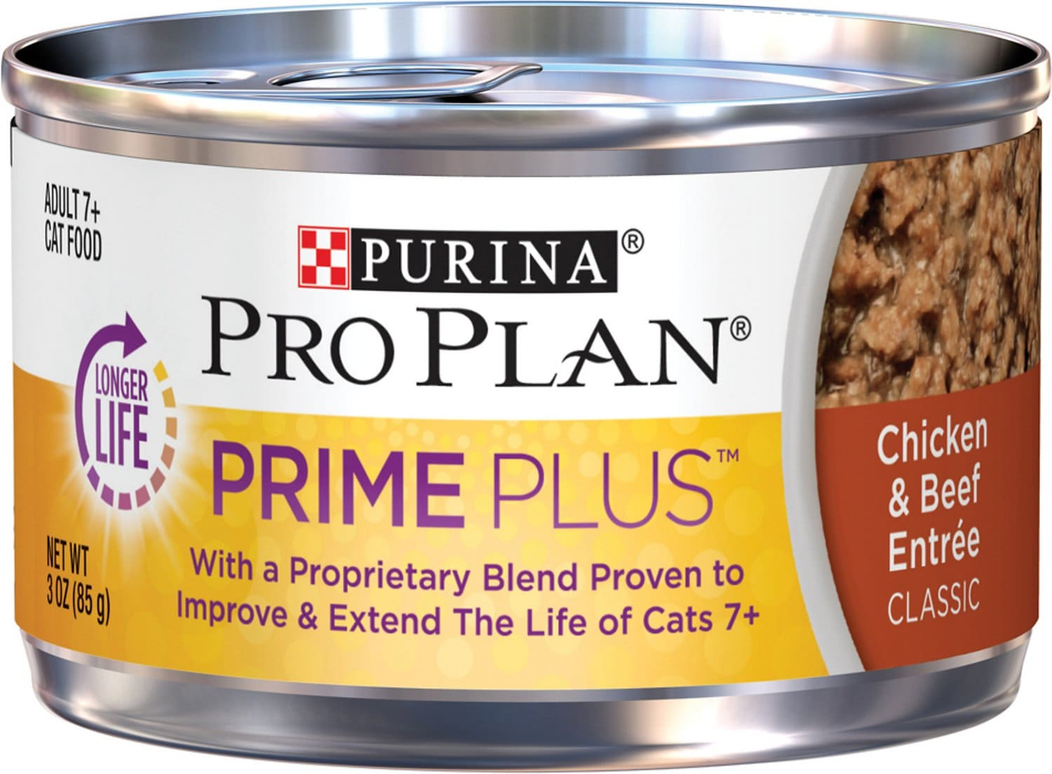 Purina Pro Plan Adult 7+ Prime Plus Entrée Classic 24 x 3 oz can Chicken & Beef 1