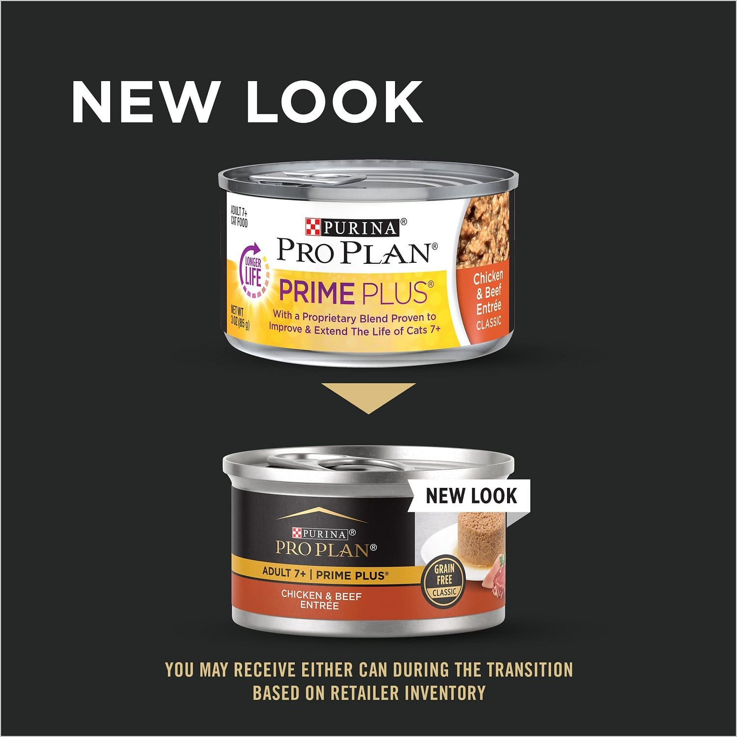 Purina Pro Plan Adult 7+ Prime Plus Entrée Classic 24 x 3 oz can Chicken & Beef 2