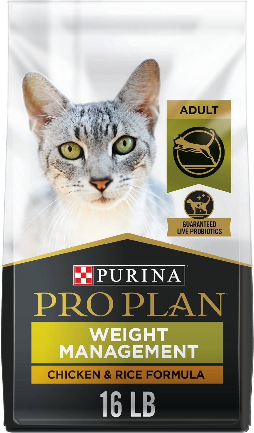 Purina Pro Plan Adult Weight Management Formula for Cats 16 lbs Chicken & Rice  1