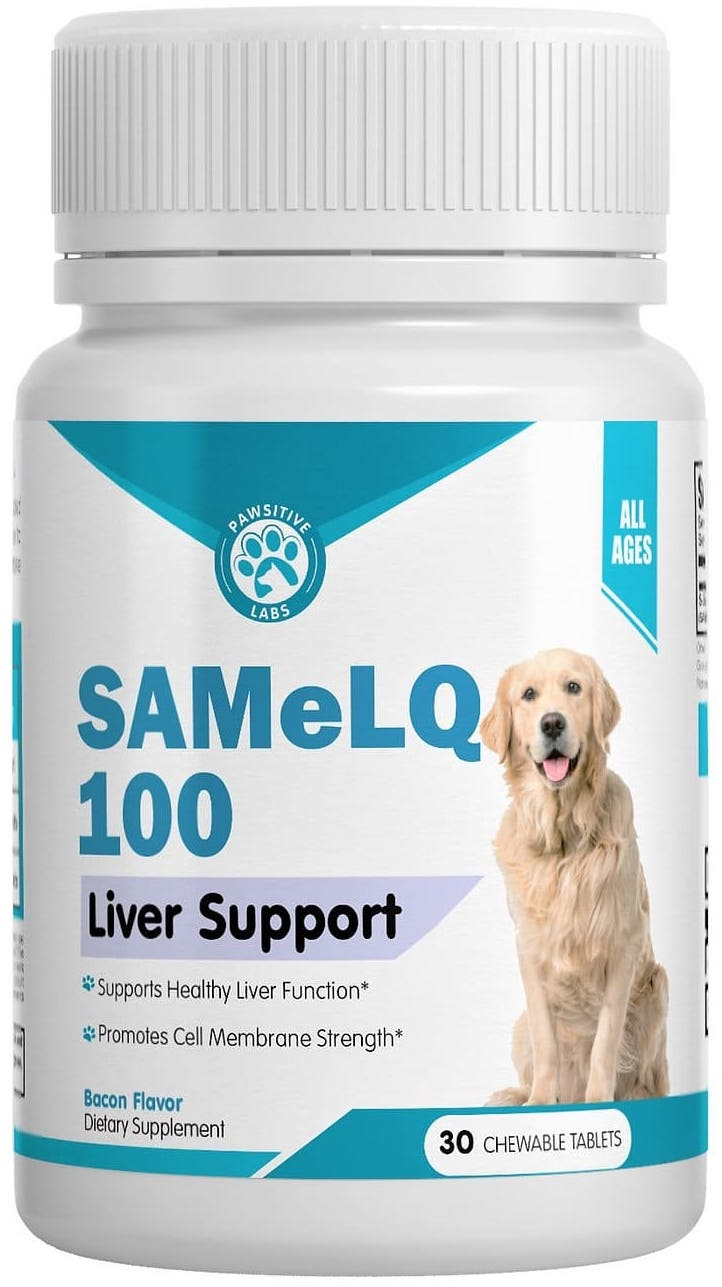 SAMeLQ Chewable Tablets 100 mg 30 count Bacon 1