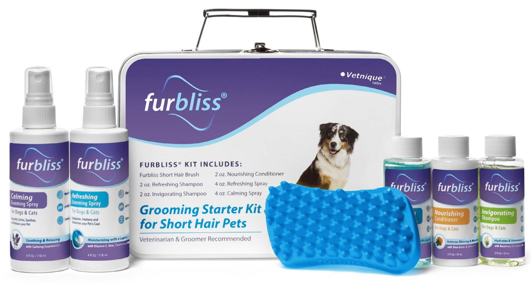 Furbliss Grooming & Bathing Kit 1 count for pets with short hair 1