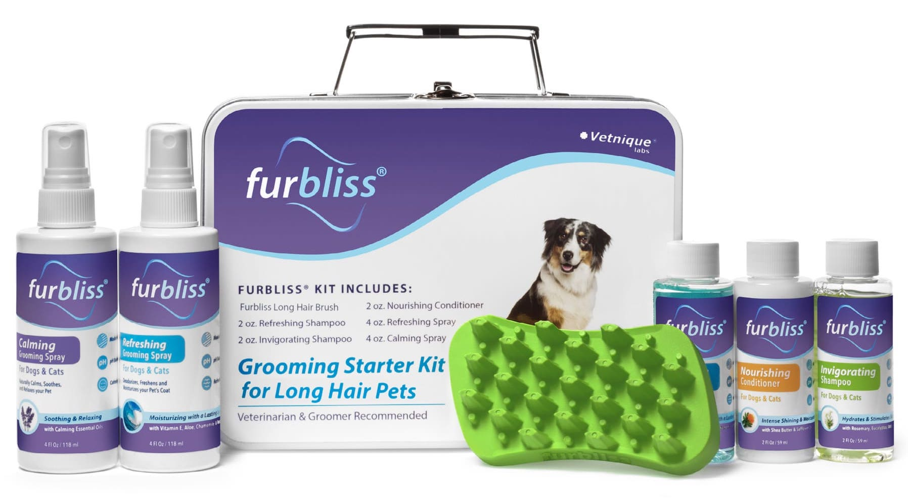 Furbliss Grooming & Bathing Kit 1 count for pets with long hair 1