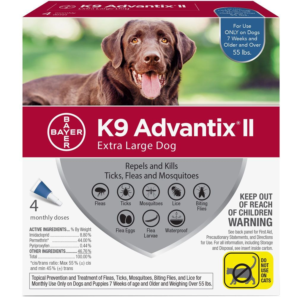 K9 Advantix II 4 doses for dogs over 55 lbs (Blue) 1