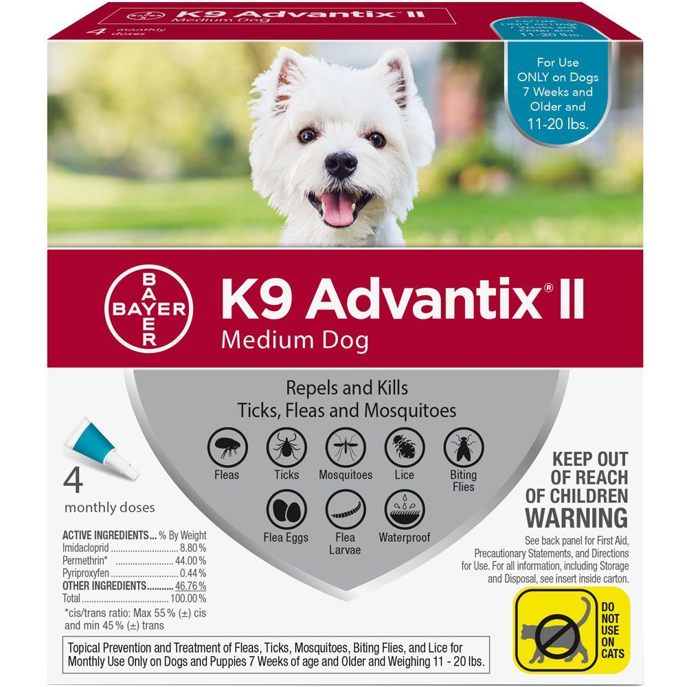 K9 Advantix II 4 doses for dogs 11-20 lbs (Teal) 1