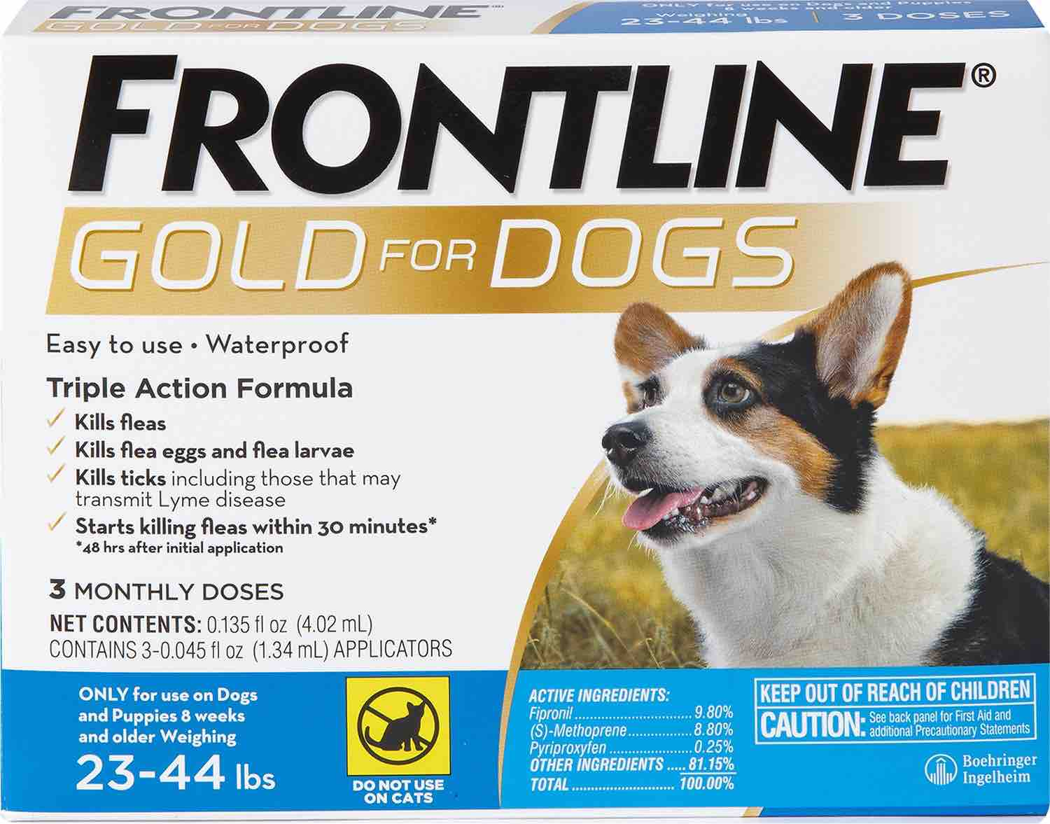 Frontline Gold for Dogs 3 doses 23-44 lbs (Blue) 1