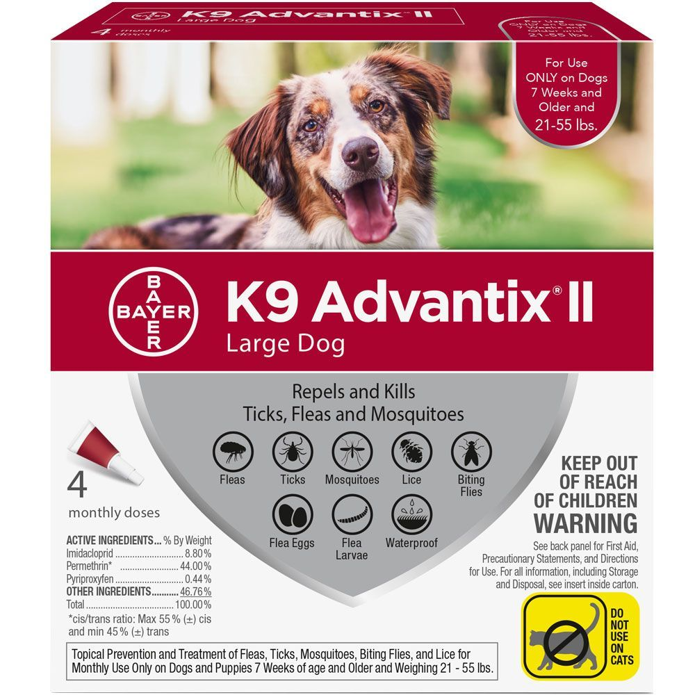 K9 Advantix II 4 doses for dogs 21-55 lbs (Red) 1