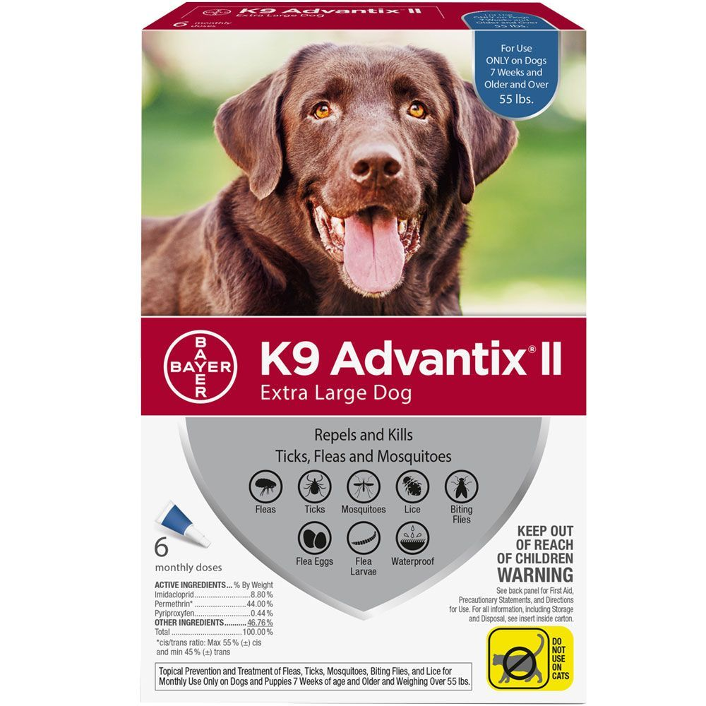 K9 Advantix II 6 doses for dogs over 55 lbs (Blue) 1