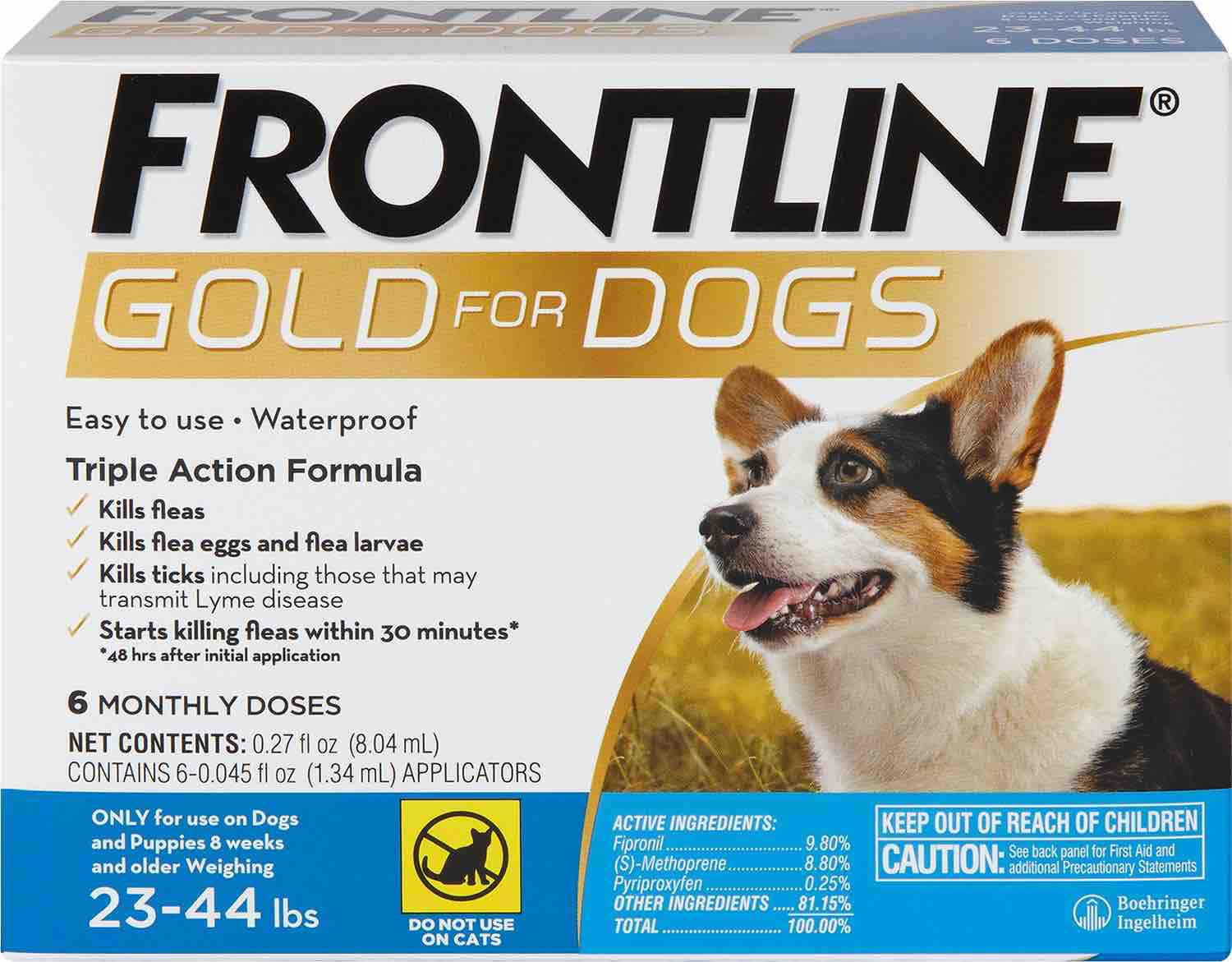 Frontline Gold for Dogs 6 doses 23-44 lbs (Blue) 1