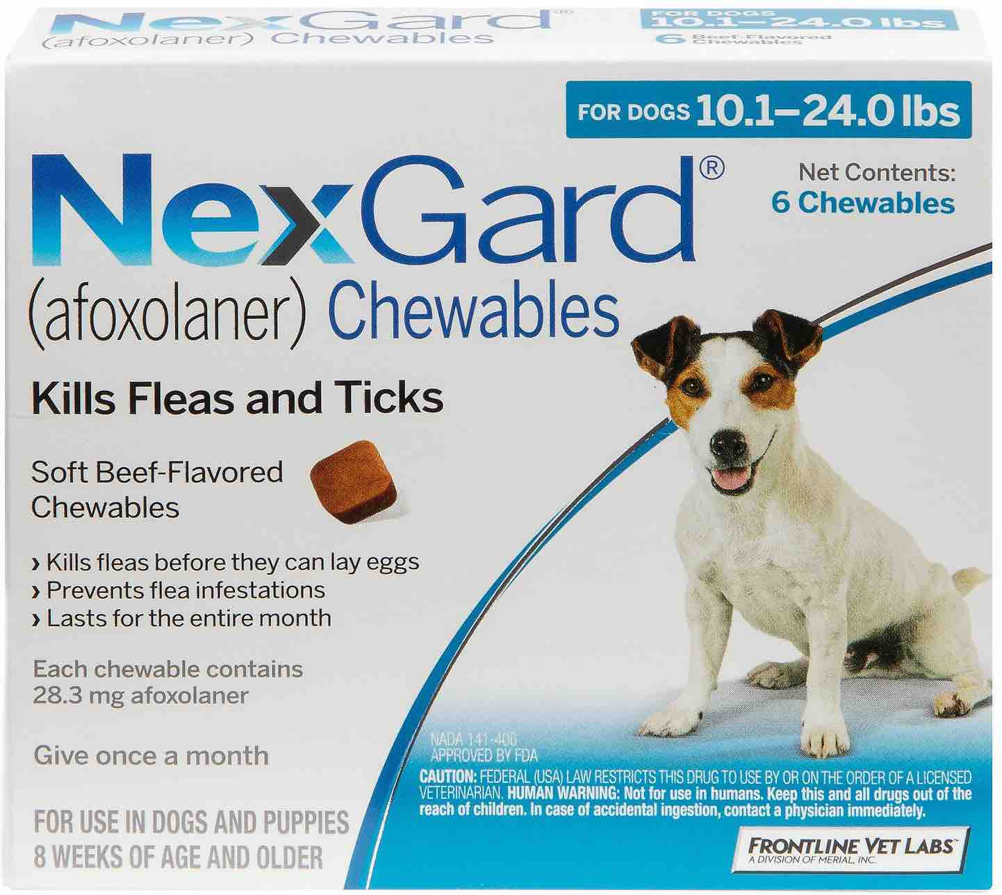 NexGard 6 chewables for dogs 10.1-24 lbs (Blue) 1